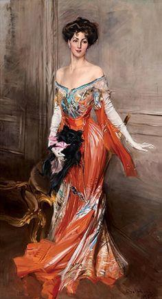 Giovanni Boldini, Ritratto di Elisabeth Drexel Lehr, 1905, olio su tela. Spectacular dress!!