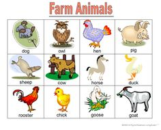 Great bingo game to learn farm animals.  There is a video so kids can play the bingo game on their own also.  www.loving2learn.com