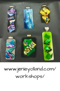 You'll have so much fun when you start your journey through our fused glass workshops.  The dichroic jewellery workshop is for absolute beginners.  Link here to book into our workshops.