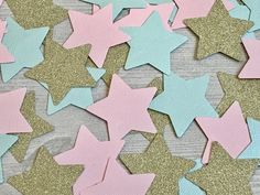 50 CT Twinkle Little Star Gender Reveal Confetti — Rings & Rattles Confetti Gender Reveal, Light Colors, Colours, Shimmer Lights, Clear Bags, Twinkle Twinkle Little Star, Reveal Parties, Gold Glitter, Card Stock