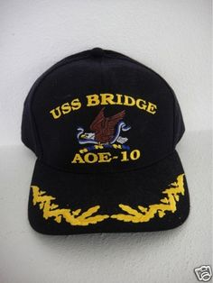 4268d9ada88 USS Bridge AOE-10 CO skipper officer scrambled eggs ball cap snap back USA  Scrambled