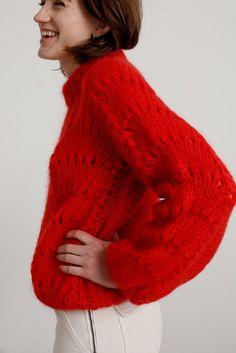 Image of Ganni Julliard Sweater - Red