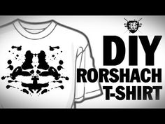 Threadbanger DIY Rorshach T-Shirt  White shirt, fabric paint, cardboard & voila! Rorshach T-shirt awesomeness!