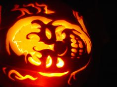 scary clown pumpkin carvings - Google Search