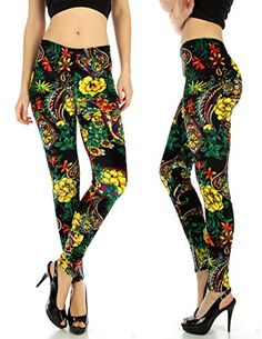 Womens Fashion Tropical Flower Velour Tights Pants Leggings One size black floral -- Find out more about the great product at the image link.