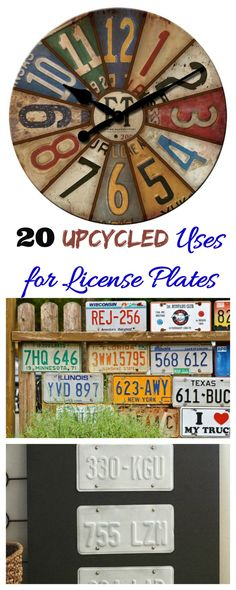 Uses for license plates - Using Number Plates in DIY Projects License Plate Crafts, Cool License Plates, License Plate Art, License Plate Ideas, Licence Plates, Diy Recycling, Repurposing, Design Furniture, Car Furniture