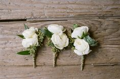 white ranunculus boutonnieres | Photography by austinwarnock.com |  Floral Design by wkf.com |   Read more - http://www.stylemepretty.com/2013/06/27/missouri-wedding-from-austin-warnock-photography/