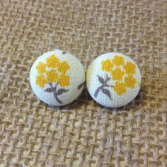 Marigolds Button Earring by LulaBelleAndCo on Etsy