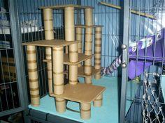 cardboard climbing frame