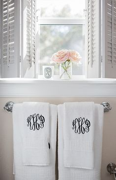Bathroom Hand Towels My Life In A MonogramHome Pinterest - Monogrammed hand towels for small bathroom ideas
