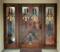 WOW!!!!  Look at this beautiful, unique stained glass custom front door!  Beautiful!