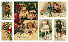 Free Printables: Tons of Antique Postcard Images (Victorian/Old World Women, Children, Angels, Santa, Etc... I'll be glad I saved this someday.)