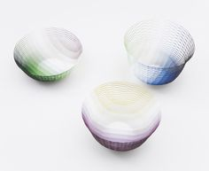 Graduation and Cube Air Vases by   Torafu Architects for Ligne Roset