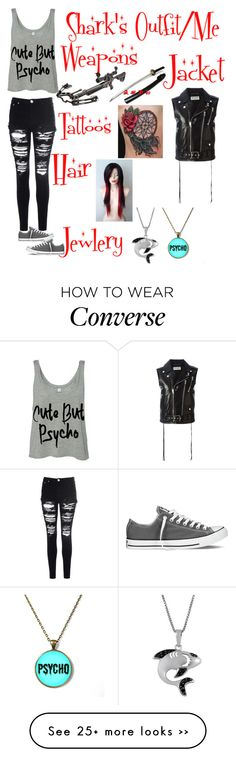 """Read DeScRiPtIoN"" by sharksquad on Polyvore featuring Jewel Exclusive, Glamorous, Converse and Yves Saint Laurent"