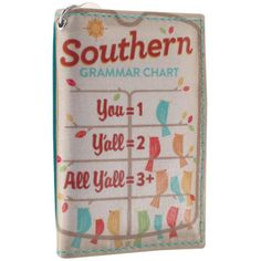 Twofold ID - Southern Grammar Chart – Alicia Klein - Taxi Wallet - OWLrecycled