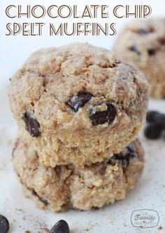 Recipe: Chocolate Chip Spelt Muffins (no refined sugar) | Family Gone Healthy