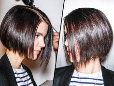 Les 100 coiffures tendances de l'automne-hiver 2013-2014 Carré lisse plongeant