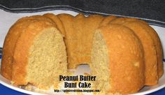 Peanut Butter Bunt Cake on MyRecipeMagic.com Recipe. Nutrition tab lists 2 Weight Watchers Points Plus per serving.