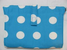 Turquoise with White Dots Baby Change Station Baby by BAGSbyMartha, $52.00