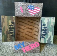 Check out this item in my Etsy shop https://www.etsy.com/listing/260799750/care-package-box-kit-i-love-my-hero