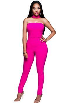 2016 Summer New women Overalls Sexy Bodysuit Rompers Jumpsuit Coveralls Women 3 Colors Strapless Choker Jumpsuit Rompers Women, Jumpsuits For Women, Neck Choker, Playsuit Romper, Lingerie, Black Romper, Slim Legs, Clubwear, Sexy Dresses