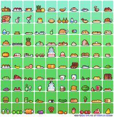 100 Food sprites by Neoriceisgood