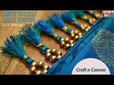 Amazing Latest Saree Tassels / Saree Kucchu - D.Y Tutorial - Easy to make Saree Tassels Designs, Saree Kuchu Designs, Saree Blouse Neck Designs, Bridal Blouse Designs, Hand Embroidery Patterns Flowers, Hand Embroidery Videos, Embroidery Saree, Hand Embroidery Designs, Beaded Embroidery