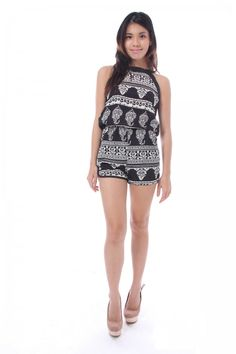 _Egyptian print day out romper