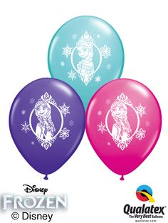 You need these balloons printed with Elsa and Anna's portraits for your Frozen Party!This Disney licensed product comes in a Carribean Blue, Purple Violet, and Wildberry assortment. Disney Princess Birthday, Frozen Birthday Party, Frozen Party, 2nd Birthday Parties, Birthday Ideas, Disney Frozen, Disney Disney, Anna Und Elsa, Princess Balloons