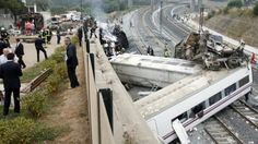 At least 78 people have been killed in the passenger train derailment in north-western Spain on Wednesday.  More than 140 were hurt, 36 seriously, after all eight carriages of the Madrid to Ferrol train came off the tracks near Santiago de Compostela.  Media reports say the train may have been travelling at more than twice the speed limit around a curve.  July 25, 2013