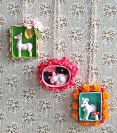 shadowbox necklaces by Magical Pony Farm on etsy.