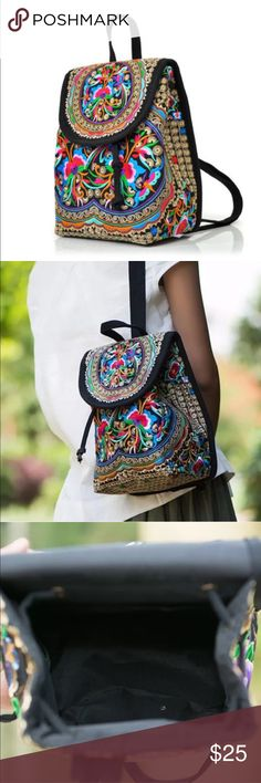 New✨ Boho Embroidered mini Backpack😍✨✨ ✨ New Fashion Statement are the Boho mini backpack's- perfect for all of your items and to wear to the upcoming music festivals 💖💕✨    🔸Brand New✨ 🔸PRICE IS FIRM- already listed at lowest price  🔸If you want to save please look into bundling  🔸In Stock 🔸No Trades 🔸Will ship within 24 hours Monday-Friday 🚫Please -NO- Offers on items priced $10 and under AND ON SALE ITEMS‼️  🚫Serious Inquiries Only❣️  🔹Bundle one or more items from my boutique…