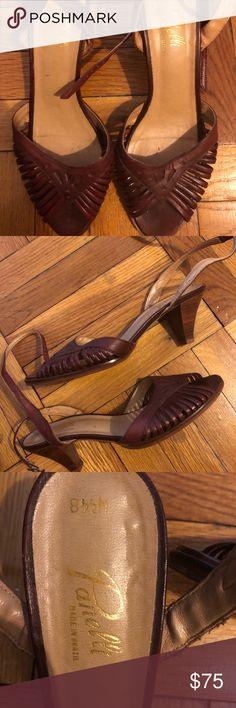 Panelli vintage espadrille leather sandals