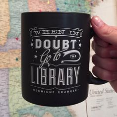 When In Doubt Mug. Fun fact: I'm currently at the library.<-- Then why aren't you reading?!?!
