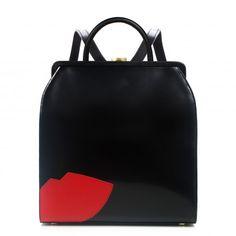 Black Lge Abstract Lips  Eva Backpack | Backpack | Bags  | Lulu Guinness