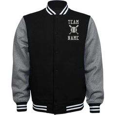 Personalized Baseball Coach Fleece Varsity Jacket | Available in other styles & colors.