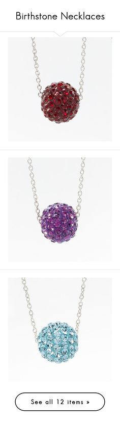 Birthstone Necklaces by touchstonecrystal on Polyvore featuring touchstone crystal, birthstone, swarovski, birthstone jewelry, birthstone jewellery, party jewelry, touchstone crystal jewelry and party necklaces