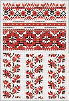 Для пані Cross Stitch Borders, Cross Stitch Flowers, Cross Stitch Charts, Cross Stitch Designs, Cross Stitching, Cross Stitch Patterns, Folk Embroidery, Learn Embroidery, Cross Stitch Embroidery