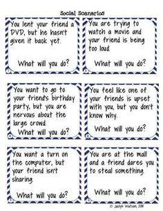 Life Skills Problem Solving: Social Skills Task Cards and Worksheets for middle/high school $