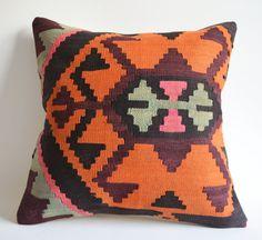 Sukan / Organic Modern Bohemian Throw Pillow. Handwoven by sukan