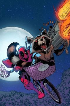 Deadpool & Rocket.