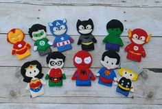Superhero finger puppets https://www.etsy.com/listing/211225919/superhero-finger-puppets-quiet-play