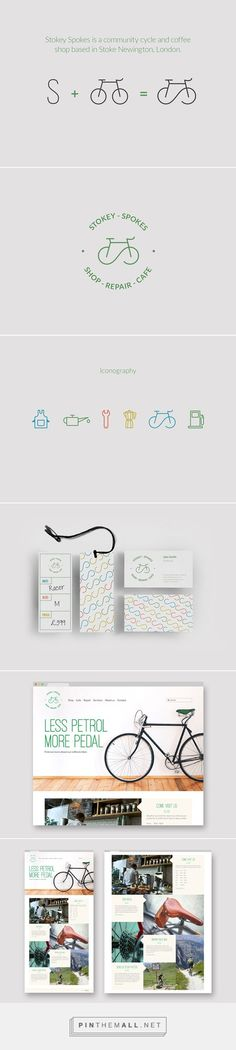 Stokey Spokes – Bikes & Coffee Brand Identity - created on Coffee Branding, Kids Branding, Logo Branding, Corporate Id, Corporate Design, Logo Velo, Bike Logo, Creative Design, Web Design