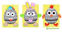 Fun Funky Easter Egg Craft Activity