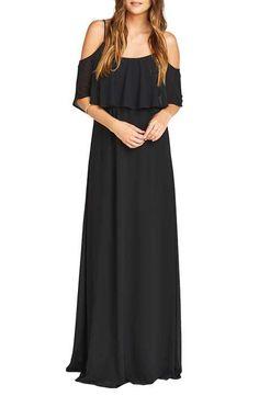 Show Me Your Mumu 'Caitlin' Convertible Ruffle Bodice Chiffon Gown