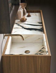 Home Decorating Ideas Bathroom I love this marble sink! Home Decorating Ideas Bathroom Source : I love this marble sink! by zievee Share Bad Inspiration, Bathroom Inspiration, Interior Inspiration, Luxury Bath, Beautiful Bathrooms, Modern Bathrooms, Modern Bathtub, Small Bathrooms, Hotel Bathrooms
