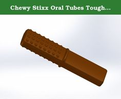 Chewy Stixx Oral Tubes Tough Bar Chocolate Flavor---For children with aggressive biting habits. Chew Stixx when used properly provide a safe and bacteria free alternative for children who chew on shirts, pencils, fingers, ETC. Chew Stixx combines multiple food simulating textures into one cost effective device. Due to the alternating textures of this product, it is an excellent chewable hand fidget for children craving sensory input, and the input received from destructive oral motor...