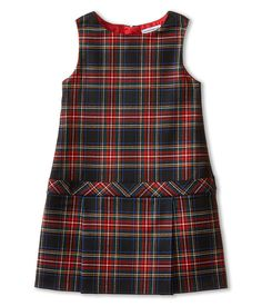 Dolce & Gabbana Kids Back to School Plaid Drop Waist Dress (Toddler/Little Kids) {affiliate} Toddler Dress, Baby Dress, Preppy Outfits, Kids Outfits, Toddler Fashion, Girl Fashion, Fashion Tips, Zappos Couture, African Dresses For Kids