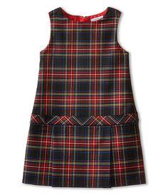 Dolce & Gabbana Kids Back to School Plaid Drop Waist Dress (Toddler/Little Kids) {affiliate} Preppy Outfits, Kids Outfits, Fashion Outfits, Fashion Tips, Toddler Dress, Baby Dress, Toddler Fashion, Kids Fashion, Little Girl Dresses