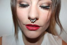 DIY Fake Septum or Nose Ring Video Tutorial. I watched the whole thing - from basic to beaded.